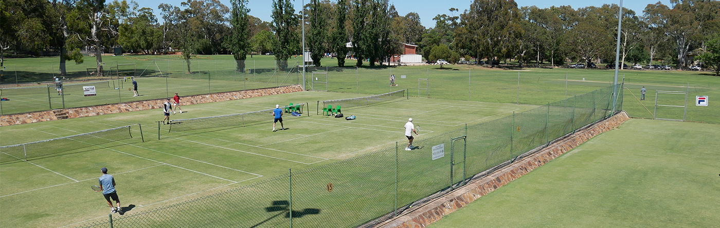 Grass courts in a beautiful reserve